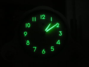 Radioactive Clockface